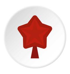 Star for christmas tree icon circle vector