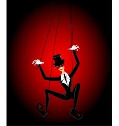 String puppet dancing vector