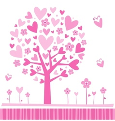 Tree made of hearts vector image vector image