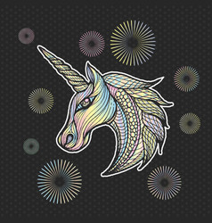 unicorn icon vector image