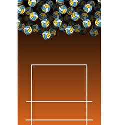 Volleyball field and ball lot of balls volleyball vector