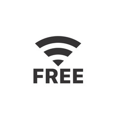 Wireless connection pictogram free internet vector