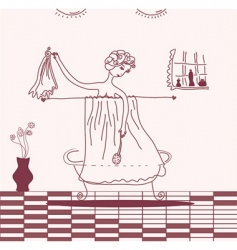 woman taking bath vector image vector image