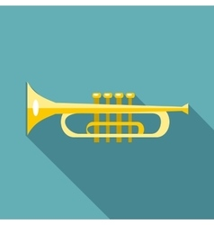 Music tube icon flat style vector