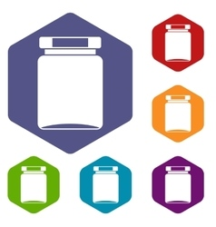 Jar icons set vector