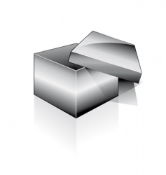 3d open box vector image