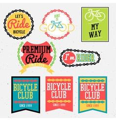 bicycle club color vector image