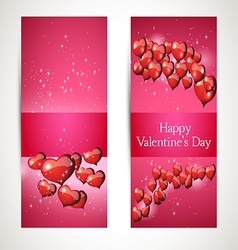 Greetings in the heart for valentines day vector