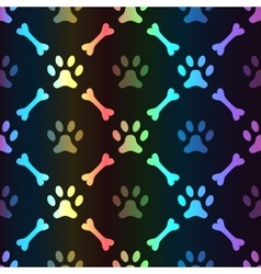 Animal spectrum seamless pattern of paw vector