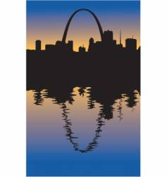 Saint louis missouri silhouette vector