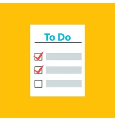 To do list with check marks vector