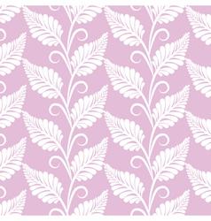 vinatge leaves seamless pattern vector image