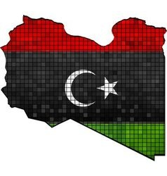 Libya map with flag inside vector