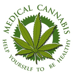 Medical Cannabis-emblem vector image