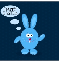 Cartoon rabbit greeting card with easter rabbit vector