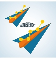 Flat about achievement design vector
