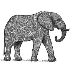 Elephant grey vector image