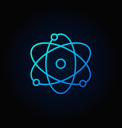 atom blue icon vector image