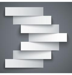 Blank paper stripe banners arrow on dark grey vector