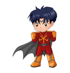 Chibi style of a superhero vector