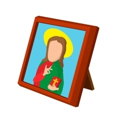 Church icon depicting St cartoon icon vector image vector image