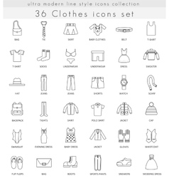 Clothes footwear ultra modern outline line vector image vector image