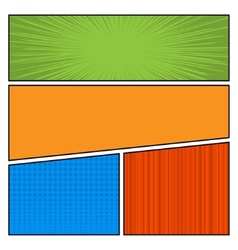 Comics color pop art style blank layout template vector