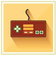 Computer Video Game Controller Joystick Flat Icon vector image