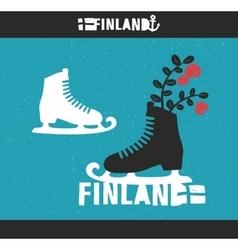 Creative Finnish label vector image vector image