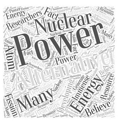 Developing nuclear power as alternative energy vector