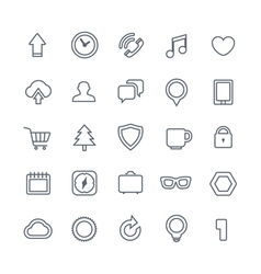 Different web icons collection isolated on white vector