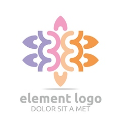 Elements lines design abstract vector