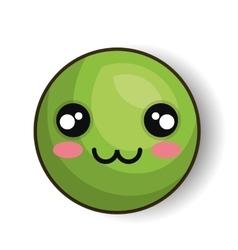 emoji green design graphic vector image