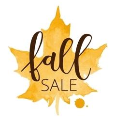 Fall sale hand written inscription vector