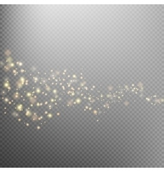 Gold glittering star dust trail eps 10 vector