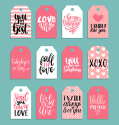 Hand lettering phrases fall in love etcon vector
