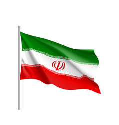 iran national flag realistic vector image