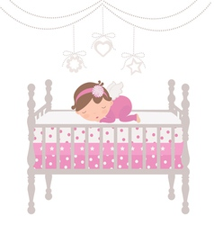 Little angel sleeping vector image vector image
