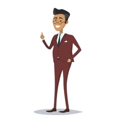 Man character in business suit vector