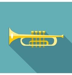 Music tube icon flat style vector image