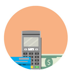 Payment by credit card icon app flat vector