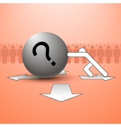 Question and man vector image