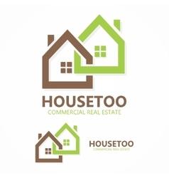 real estate logo or icon vector image vector image