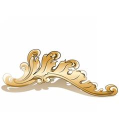 Royal golden element vector