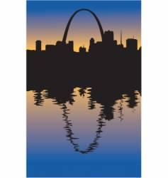 Saint Louis Missouri silhouette vector image vector image