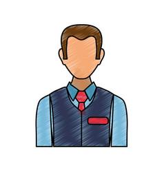 Sales advisor avatar vector