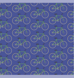 seamless pattern green bikes vector image