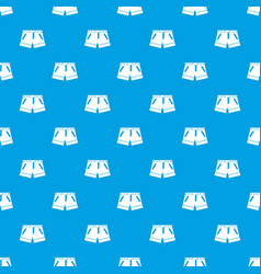 shorts pattern seamless blue vector image