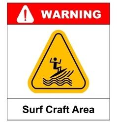 surfing zone graphic design vector image