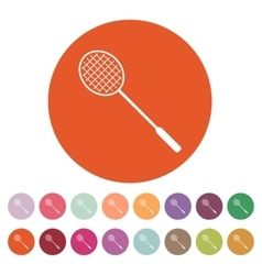The badminton icon Game symbol Flat vector image